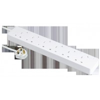 13A 6位安全拖板連獨立開關及LED 指示燈(連3米線)